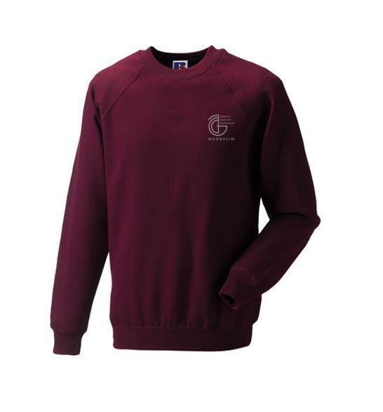 Weinroter Herren-/Unisex-Sweater